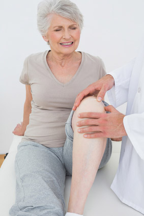 Senior woman with Muscle and Joint problems